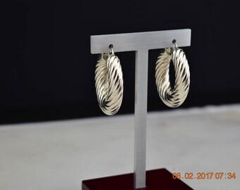 Wide Sterling Silver Hoop Earrings