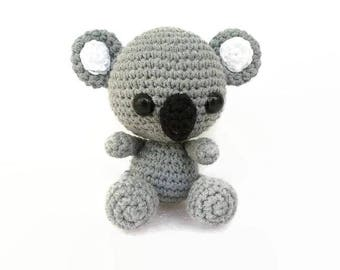Koala toy, Koala amigurumi, Plush Koala, Australian Animal Toy, Crochet Koala, Crochet Animal, Koala Bear, Stuffed Animal, Soft Koala,
