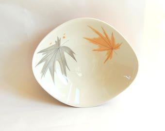 50's Iroquois Harvest Time bowl, Ben Seibel bowl, mid century modern bowl, fruit bowl, serving bowl, retro bowl, vintage bowl, orange bowl