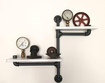 Shelf/shelf Industrial style Vintage plumbing pipes.