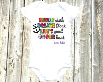 cute band onesie, boating onesie, nautical bodysuit one-piece shirt - cute boating shirt