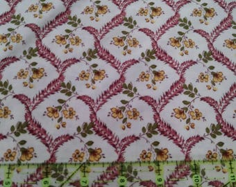 Riley Blake Fabrics - Penny Rose Fabrics - Burgundy Floral - Heirloom Style