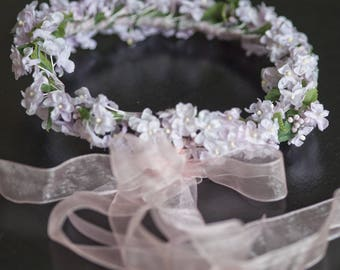 Pink flower Crown for hair