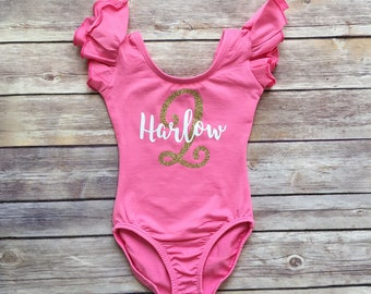Birthday leotard, First Birthday Shirt, Girls Birthday Outfit, Pink and Gold Birthday, Second Birthday, Pink Birthday Shirt, birthday outfit