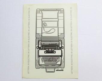 1973 Olivetti Lettera 36 Typewriter Magazine Ad  Ettore Sottsass Design Memphis Art International