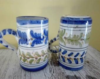 Old glasses from sangria, 1960s, ceramic cups, sangria's ceramic glasses