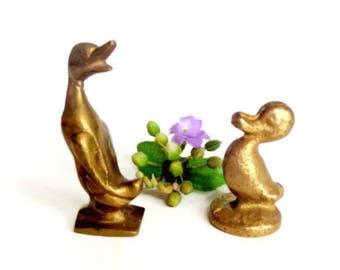 Mid Century Brass duck/Vintage brass duck/ Vintage brass duck/ Duck figurine/ Vintage home decor/ Brass animals, Mid Century Modern
