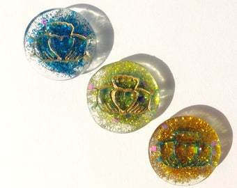 Claddagh Magnets, Set of 3: Sky Blue, Lime, Gold