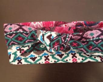 Headband fancy with a special winter cotton bow