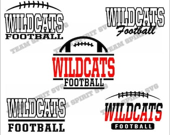 Wildcats Football Pack Bundle Files - SVG, DXF, EPS, Silhouette Studio, Vinyl Cut Files, Digital Cut Files -Use with Cricut and Silhouette
