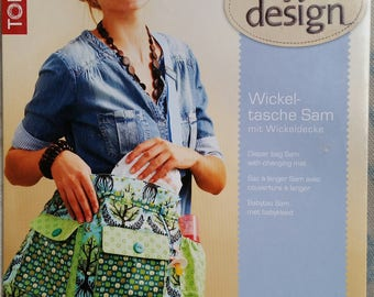 """My design"" 19 492 TOPP sewing pattern diaper bag + blanket to Swaddle in 4 languages + label"