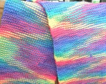 Table Runner Crocheted Multi-Color