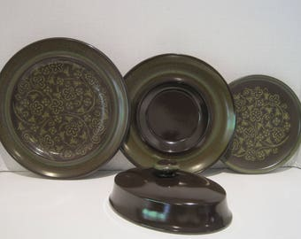 Franciscan Madeira USA Lot of 4 ~ Salad, Gravy Underplate,Appetizer, Butter top