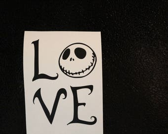 Nightmare Before Christmas Love Jack Skellington Decal Any Size Any Colors