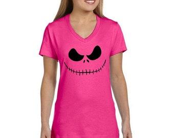 Nightmare Before Christmas Jack Skellington Smile T-Shirt CUSTOMIZATION available Free Shipping