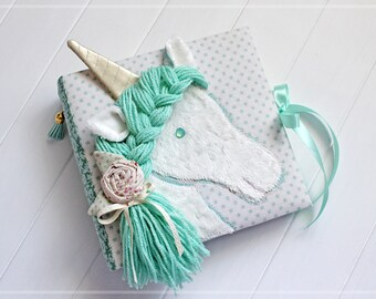 mint unicorn photo album baby girl photo album baby shower guest book unicorn - 4x6 Photo Albums