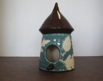 Wheel-Thrown Ceramic Bird House