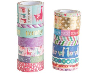 Mix 2 Washi Tape Tube By Recollections™  Llama . alpaca. Hooray.