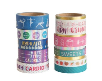 Fitness Washi Tape Pouch By Recollections