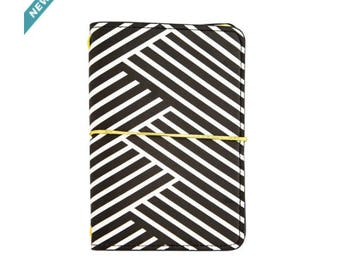 Small Dark Glamour Black & White Striped Journal By Recollections™