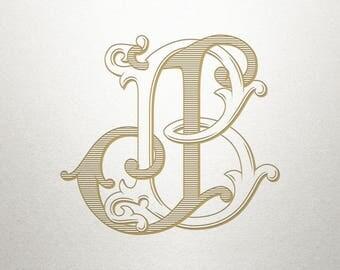 Royal Monogram Design - BJ JB - Royal Monogram - Digital