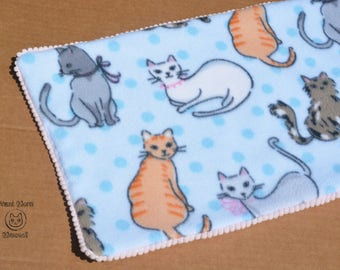 Cat blanket, Cat bedding, Padded blanket, Catnip blanket, Soft blue fleece, Crate cover, Cat mat, Comfy cozy cat cushion, Kawaii crate pad
