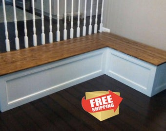 Corner bench, kitchen seating, L shaped bench, breakfast nook FREE SHIPPING...!!!!
