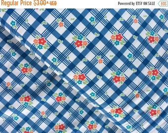 Sale Tablecloth in Blue Cotton Fabric from the Road Trip Collection by Riley Blake