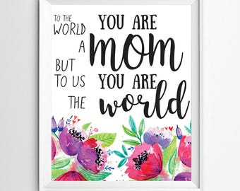 Mother's day print printable gifts for mum mother day quote printable mothers day gifts wall art decor typographic home decor