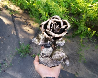6th anniversary gift, 6th anniversary gift Iron, 6th anniversary, iron gifts 6th anniversary, gift for her,  Forged rose Iron Roses