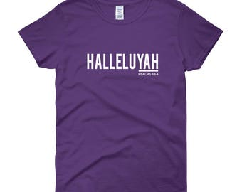 "Women's ""HALLELUYAH"" T-shirt (100% Cotton)"