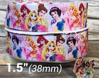 """1.5"""" princess inspired grosgrain ribbon."""