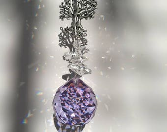 Lilac tree of life sun catcher