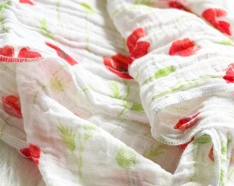 Watercolor - Muslin swaddle blanket- muslin blanket- muslin swaddle- baby blanket- car seat cover- baby wrap- swaddle set- baby swaddle