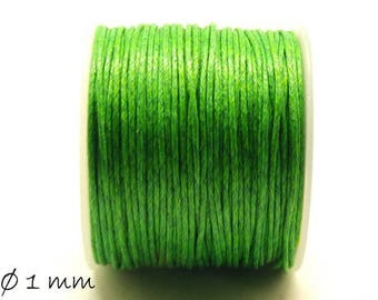 Designed, cotton string, Green, Ø 1 mm