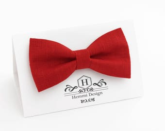 Red Bow Tie, Pocket Square / Boy's Bow Ties / Men's Bow Tie / RED rose bow tie For Men / Suited Pocket Square