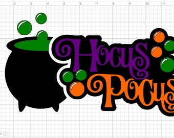 Layered Halloween Hocus Pocus  SVG PDF EPS Dxf & Studio 3 Cut Files
