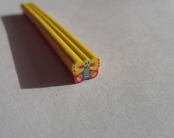 set of 12 Butterfly fimo cane slices