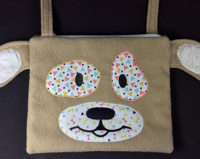 Bag child Merlin dog