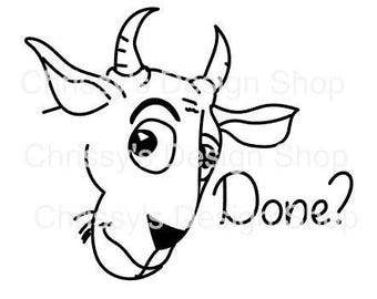 Silly animal line art goat svg / line art cartoon / cartoon svg / dxf / eps / png / line art quotes / line art printable / cartoon printable