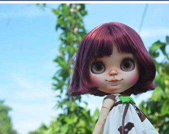 """On layaway, Last payment! Delightful""""Smiley"""" come play with me, l will make you smile..blythe custom doll by Wowjoblythe ooak"""