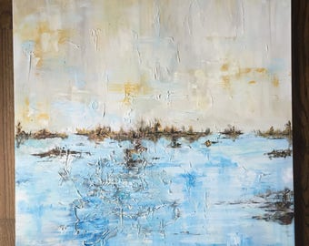 Original Large Abstract Landscape Painting (30x40)