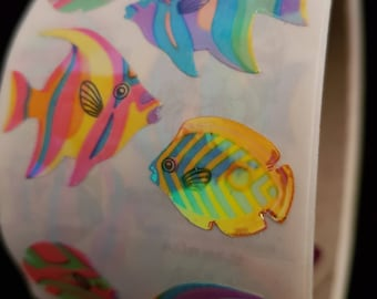Plastic sticker roll with 50 breaks fish