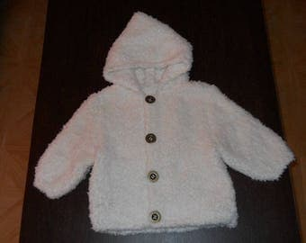 coat with hood 3/6 months baby