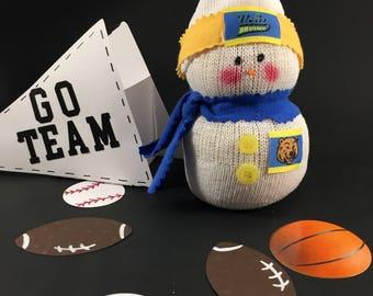 UCLA Bruins,Snowman,Bruins jersey,UCLA jersey,Gift for Bruins fan,Bruins fan gift,Bruins decor,Bruins sports,UCLA,Bruins collectible,Bruins