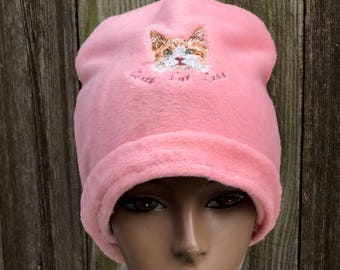 Crazy Cat Lady Fleece Beanie Hat
