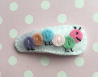 Caterpillar Felt Hair Clip