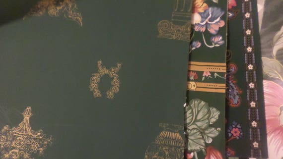 20 plus large pieces of assorted green wallpaper remnants for Wallpaper remnants