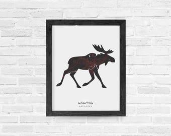 Moncton Moose Print