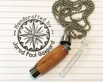 Wood Perfume Vile Holder